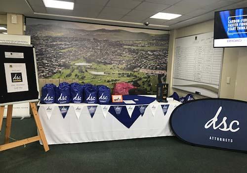 dsc golf day fundraiser table presentation