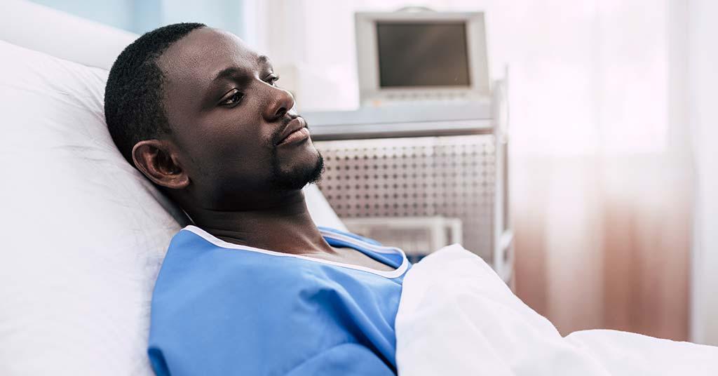 Injured African Man